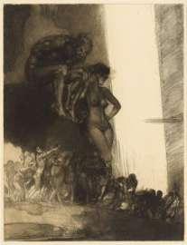 Rudolf Jettmar (1869 – 1939): Die Höllenbrücke, 1899, Radierung