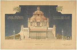 Otto Wagner: Hofpavillon der Stadtbahn Wien Hietzing, Orthogonalansicht 1898