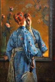 Alfred Stevens- Die japanische Pariserin, 1872