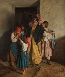 Ferdinand Georg Waldmüller, Der Abschied der Patin (Nach der Firmung), 1859