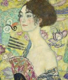 Gustav Klimt, Dame mit Fächer (Detail), 1917-18