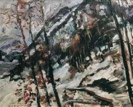 Lovis Corinth, Der Herzogstand am Walchensee im Schnee, 1922