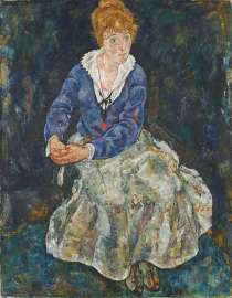 Egon Schiele, Die Frau des Künstlers, Edith Schiele, 1918