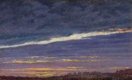 Caspar David Friedrich, Abendlicher Wolkenhimmel, 1824