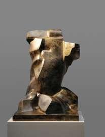 Herbert Albrecht: Sitzende Figur, 1988, Bronze