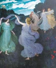 Josef Maria Auchentaller, Elfenreigen. Für das Beethoven-Musikzimmer der Villa Scheid in Wien, 1898/99