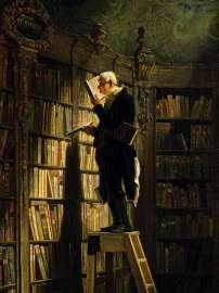 Carl Spitzweg, Der Bücherwurm, 1850