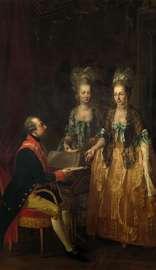 Josef Hauzinger: Kaiser Joseph II. am Spinett mit seinen zwei Schwestern, 1778