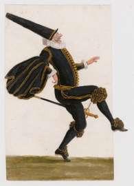 Lodovico Ottavio Burnacini, Springender Capitano, Wien, 17. Jhdt