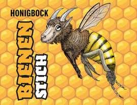 Etikette mit der wilden Biene
