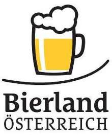 Bierland Österreich Logo - ein stylisiertes Bierkrügerl mit Schriftzug