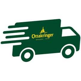 Das Lieferservice-Logo: ein stilisierter grüner Liefertruck