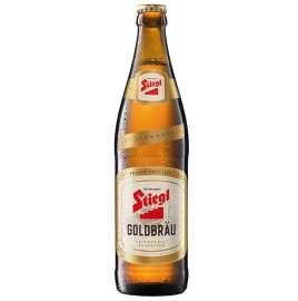 Flaschenfoto: Die neuen Etiketten für das ?Stiegl-Goldbräu? werden ab sofort aus Papier in 100% Recyclingqualität hergestellt.