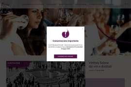 Screenshot: Ein Pop-up auf der Vinitaly Website gibt die Verschiebung und den neuen Termin bekannt