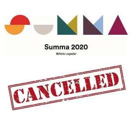 Summa 2020 Logo mit Schriftzug 'CANCELLED'