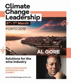 Das Sujet von »Climate Change Leadership – Solutions for the Wine Industry« mit Al Gore