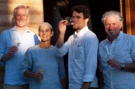Michael Goëss-Enzenberg/respekt Chairman, Elisabetta Foradori, Emilio Zierock, Fred Loimer/Co-Chairman of respekt-BIODYN