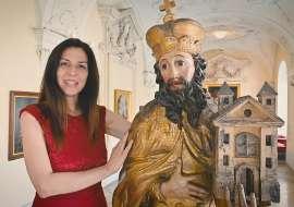 Kaisertochter Agnes (Melanie Thiemer) mit dem hl. Leopold