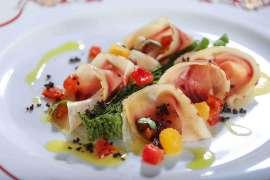Thunfisch Bresaola mit grünem Spargel