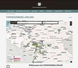 Screenshot der neuen interaktiven Weinbergslagenkarte
