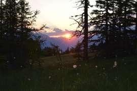 Sonnenaufgang auf der Alm in St. Margarethen