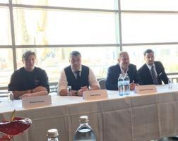 Bei der Pressekonferenz v.l.n.r. Küchenchef Roman Wurzer, Barchef Heinz Kaiser, GF Bernhard Zierlinger und Alexander Fürst