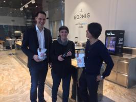 Mit Vergnügen röstet Hornig nun auch in Wien!