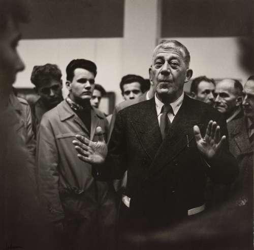 Franz Hubmann: Oskar Kokoschka bei seiner Ausstellungseröffnung in der Secession, 1955