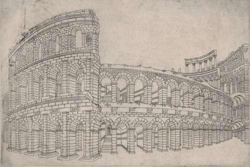 Jacques Androuet du Cerceau Das Kolosseum, ca. 1545–1549
