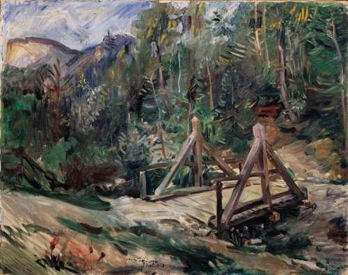 Lovis Corinth, Tiroler Landschaft mit Brücke, 1913