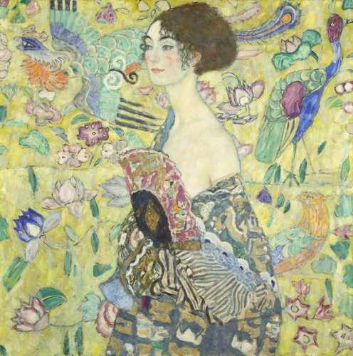 Gustav Klimt, Dame mit Fächer, 1917-18