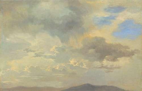 Adalbert Stifter, Wolkenstudie, um 1840