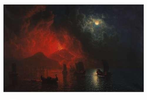Albert Bierstadt, Ausbruch des Vesuv, 1899