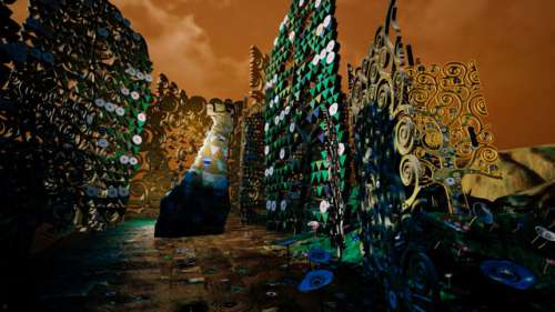 Frederick Baker, Still aus dem Director's Cut zu KLIMT'S MAGIC GARDEN: A Virtual Reality Experience by Frederick Baker, 2018
