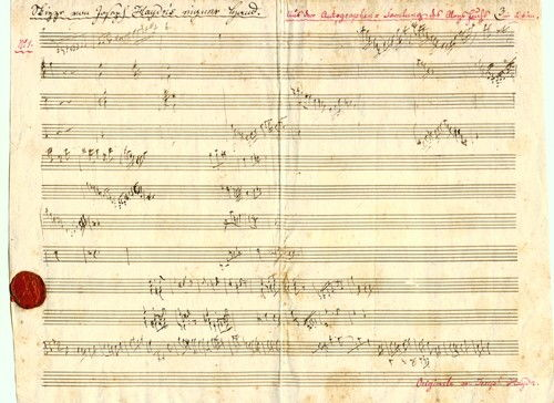 J-Haydn Skizze zu letztem Streichquartett op 103