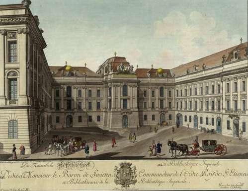 Josefsplatz, Kolorierter Kupferstich von Carl Schütz, 1780