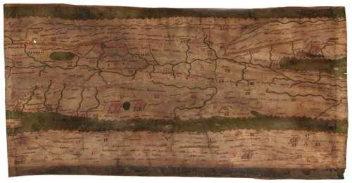 Tabula Peutingeriana, Verfasser unbekannt, Handschrift, Segment III, um 1200