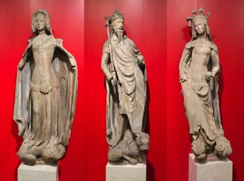 die Förstenfiguren des Stephansdoms im Belvedere