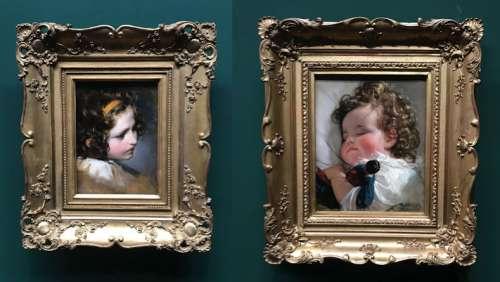 Liechtenstein'sche Sammlung: Amerling, die Tochter des Hauses Liechtenstein mit 3 bzw. 4 Jahren