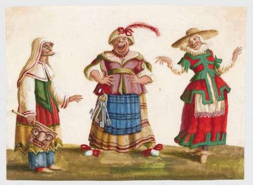 Lodovico Ottavio Burnacini, Das Trio des Freudenhauses, Wien, 17. Jhdt