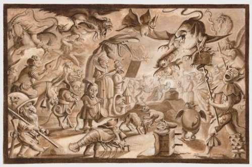 Lodovico Ottavio Burnacini, Tentacioni di S.Antonio, nach 1674