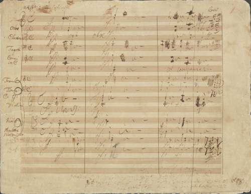 Ludwig van Beethoven: Ouvertüre Zur Weihe des Hauses op. 124, eigenhändige Partitur