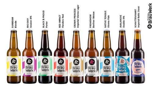Flaschenbilder der aktuelen Biervielfalt im Ottakringer Brauwerk