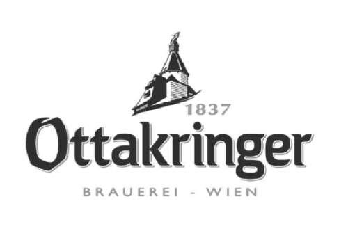 Signet der Ottakringer Brauerei mit Schriftzug '1837 Ottakringer Brauerei Wien'