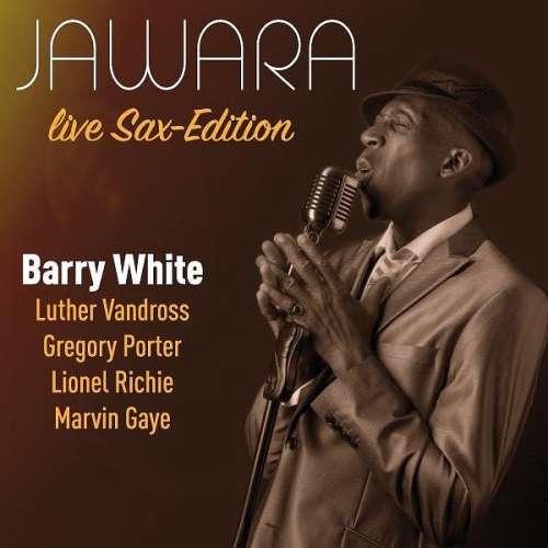 Das Veranstaltungsplakat zeigt den Saxophonisten Jawara
