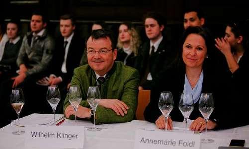 Mag Wilhelm Klinger (ÖWM) und Annemarie Foidl (Sommelierunion Austria)