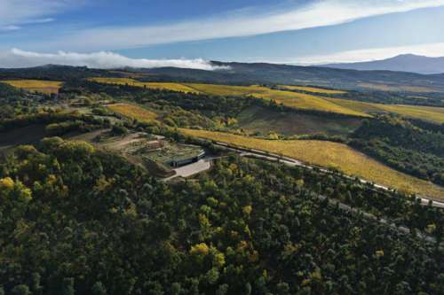 Panoramablick von Tenuta Luce ins Montalcino