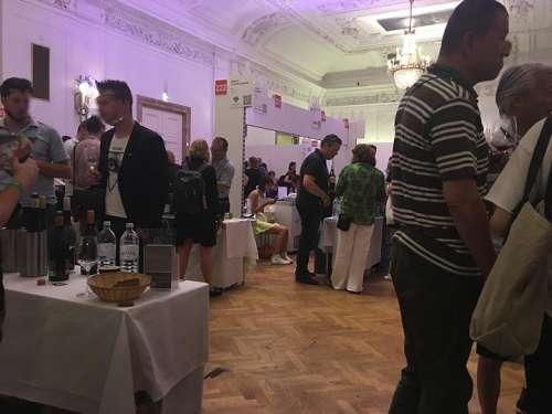 Interessierte Besucher verkosten Weine der WineWein und anderer Wiener Winzer