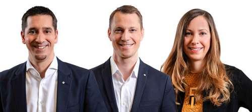 Christian Zechmeister (Bereichsleitung Gebietsmarketing & Märkte AT-DE), Michael Zimmermann (Bereichsleitung Märkte international), Sabine Bauer-Wolf (Bereichsleitung Kommunikation)