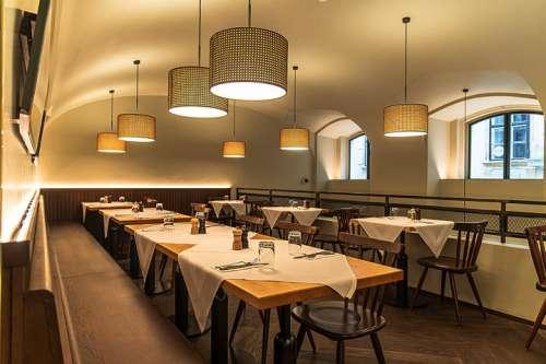 Blick in den neu gestalteten Innenraum des Restaurants